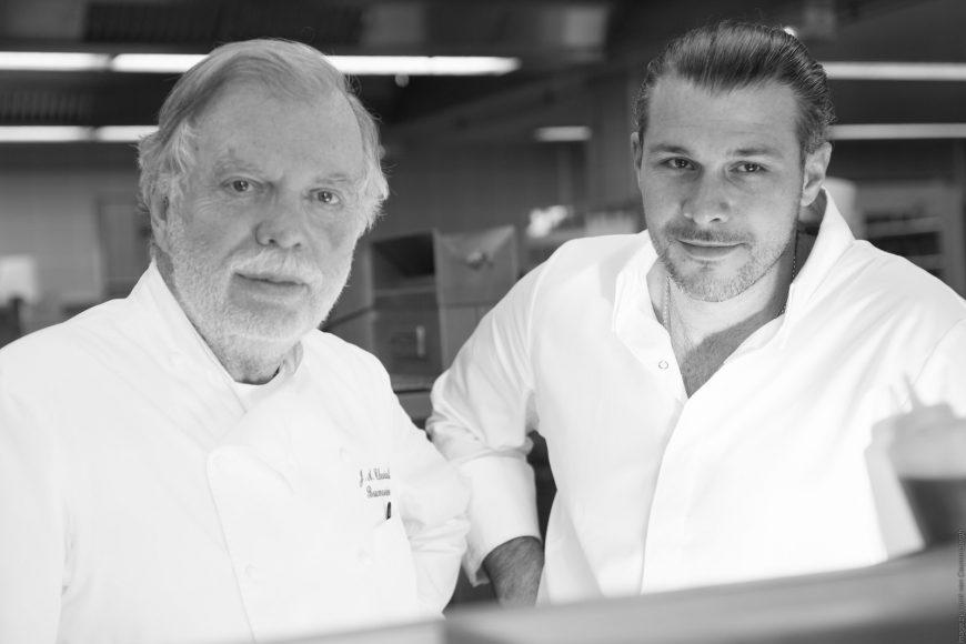 Restaurant L'Oustau de Baumanière Jean Andre Charial et Glenn Viel