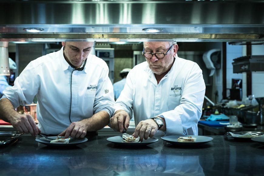 La Bouitte Restaurant René Maxime Meilleur Maxime et Rene Meilleur en cuisine