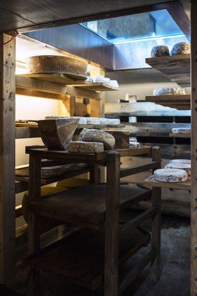 Le Clos des Sens - fromages 2 cave d'affinage - © Matthieu Cellard